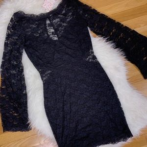 NWT Free People Black Lace Bodycon